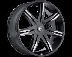 Kraze Wheels EPIC KR143 Series - Black - Milled