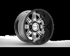 Krank Wheels Shaft - Chrome Gloss Black barrel
