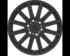 Mandrus Wheels STARK - Matte Black - Machined lip edge