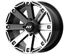 MSA Wheels M27 RAGE - Machined Gloss Black