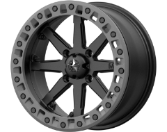 MSA Wheels M31 LOK2 - Satin Black - Matte grey Ring