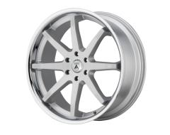 Asanti Wheels ABL-32 KAISER - Brushed Silver - Chrome Lip