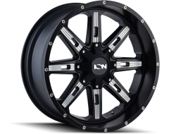 Ion Wheels 184 Series - Satin Black - Milled spokes