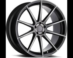 Mandrus Wheels KLASS - Gloss Gunmetal - Machined tinted face