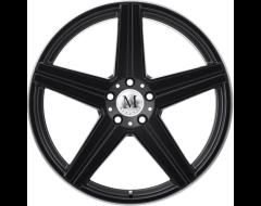 Mandrus Wheels ESTRELLA - Matte Black - Machined lip edge