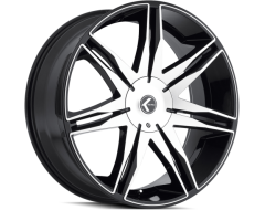 Kraze Wheels EPIC KR143 Series - Black - Machined