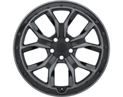 Redbourne Wheels MORLAND - Gloss metallic black - Brushed tinted face and black bolts