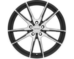 Petrol Wheels P0A - Gloss Black - Machined cut face