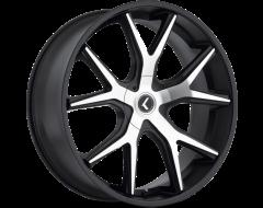 Kraze Wheels SPLTZ KR146 Series - Black - Machined