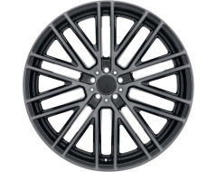 Mandrus Wheels MASCHE - Semi Gloss Black - Mirror cut face and translucent clear
