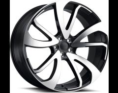 Redbourne Wheels VINCENT - Gloss Black - Mirror cut face right