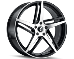 Kraze Wheels MILANO KR195 Series - Black - Machined Face