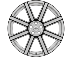 Redbourne Wheels WILKS - Silver - Gloss Black Face