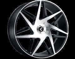 Kraze Wheels PHASE KR192 Series - Black - Machined Face