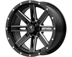 MSA Wheels M41 BOXER - Gloss Black Milled