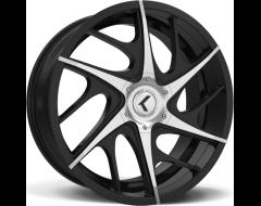 Kraze Wheels ROGUE KR182 Series - Black - Machined