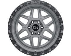 Black Rhino Wheels KELSO - Battleship grey - Black lip edge and black bolts