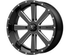 MSA Wheels M34 FLASH - Gloss Black Milled