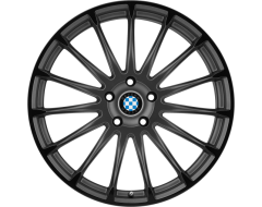 Beyern Wheels AVIATIC - Matte Gunmetal - Gloss Black lip