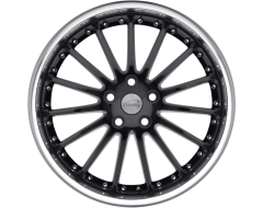 Coventry Wheels WHITLEY - Gloss Black - Mirror cut lip
