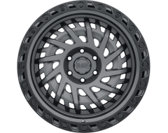 Black Rhino Wheels SHREDDER - Matte Gunmetal - Black lip edge