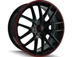 Touren Wheels TR60 3260 Series - Black - Red ring