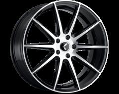 Kraze Wheels STUNNA KR191 Series - Black - Machined Face