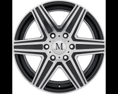 Mandrus Wheels ATLAS - Gunmetal - Mirror cut face and lip