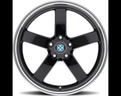 Beyern Wheels RAPP - Gloss Black - Mirror cut lip