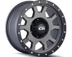 Ion Wheels 135 Series - Matte Gunmetal - Black BeadLock