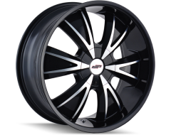 DIP Wheels VIBE D38 Series - Gloss Black - Machined Face