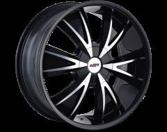DIP Wheels VIBE D38 Series - Gloss Black - Machined Face