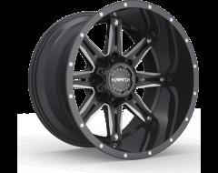 Krank Wheels Shaft - Gloss Black Milled