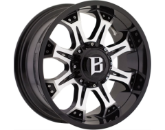 Ballistic Wheels 974 Komodo Series - Gloss painted - Machined Face