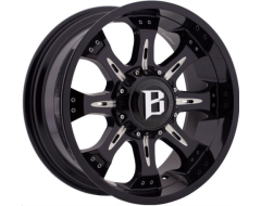 Ballistic Wheels 973 Scorpion Series - Gloss painted - Milled accents