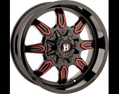 Ballistic Wheels 670 Rampage Series - Gloss - Machined windows