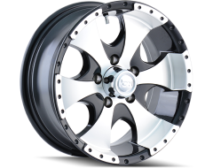 Ion Wheels 136 Series - Black - Machined lip