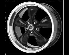 American Racing Wheels AR105 TORQ THRUST M Gloss Black Machined Lip