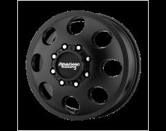 American Racing Wheels AR204 BAJA DUALLY Satin Black Front