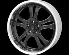 American Racing Wheels AR393 CASINO Gloss Black with Diamond Cut Lip