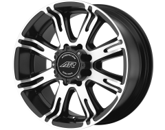 American Racing Wheels AR708 Matte Black Machined Face
