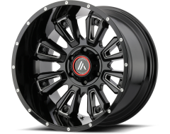 Asanti Wheels AB808 BLACKHAWK Gloss Black Milled Spokes