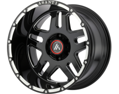 Asanti Wheels AB809 ENFORCER Gloss Black Milled Spokes