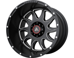 Asanti Wheels AB810 BALLISTIC Gloss Black Milled Spokes