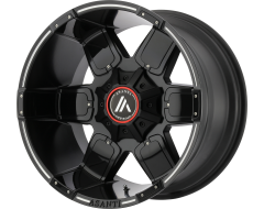 Asanti Wheels AB811 WARTHOG Satin Black Milled