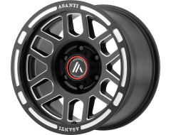 Asanti Wheels AB812 CLAYMORE Satin Black Milled