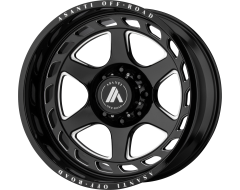 Asanti Wheels AB816 ANVIL Gloss Black Milled Spokes