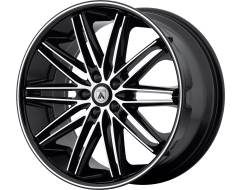 Asanti Wheels ABL-10 POLLUX Machined Face Black Lip