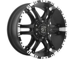 Ballistic Wheels 810 Wizard Painted Matte with Machined Lip