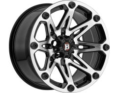 Ballistic Wheels 814 Jester Painted Matte with Machined Face